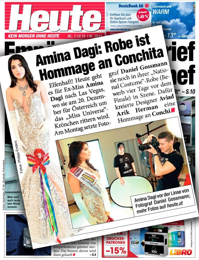 Heute Daniel Gossmann Amina Dagi Miss Austria Universe
