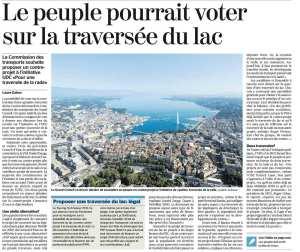 Le peuple pourrait voter le traversée du lac