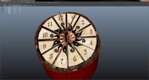 Clock with animation