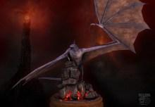 Fell Beast Mordor Tower - Maya Zbrush Photoshop
