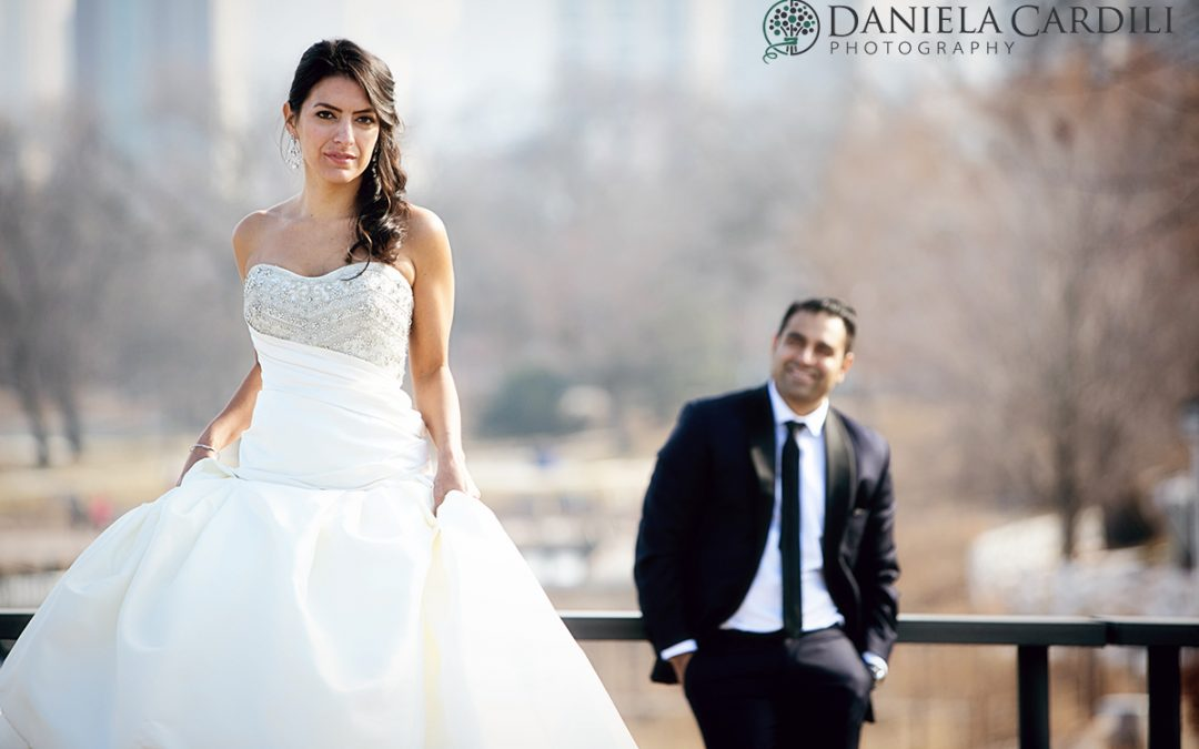 Zaida and Vik – Bride and Groom Portrait – Lincoln Park
