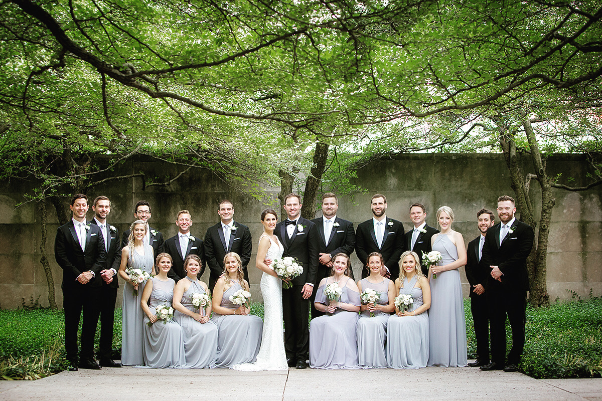 Art Institute South Garden Bridal Party