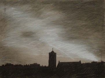 Sky 11 - charcoal and chalk on paper, 29.5x40 cm, 2014