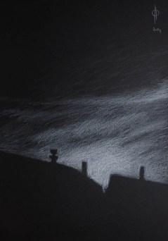 Sky 19 - pencil on paper, 50x35 cm, 2014