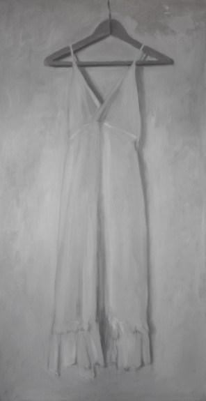 White Shades XXII - oil on linen, 126x66cm, 2018