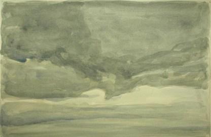 Sky 75 - watercolour on paper, 23x35cm, 2016