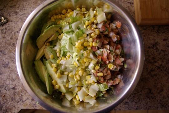undressed summer salad