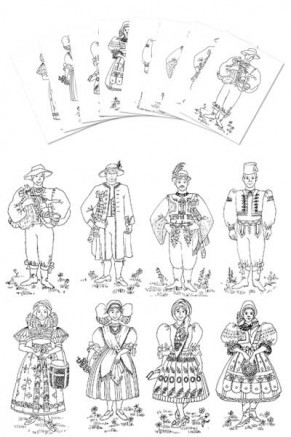 Coloring Pages Czech Boy & Girl Costumes Gc 103 Cp
