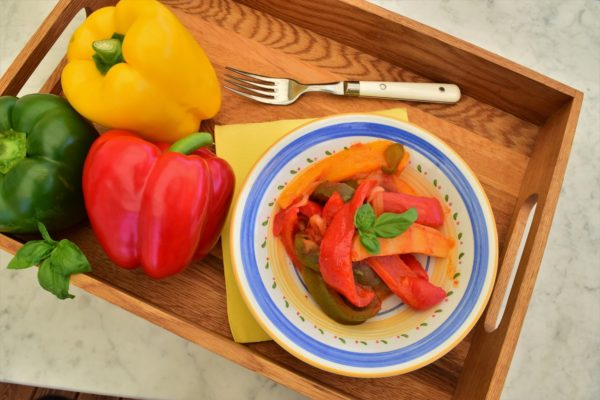 Paprika-i-tomatsaus peperonata