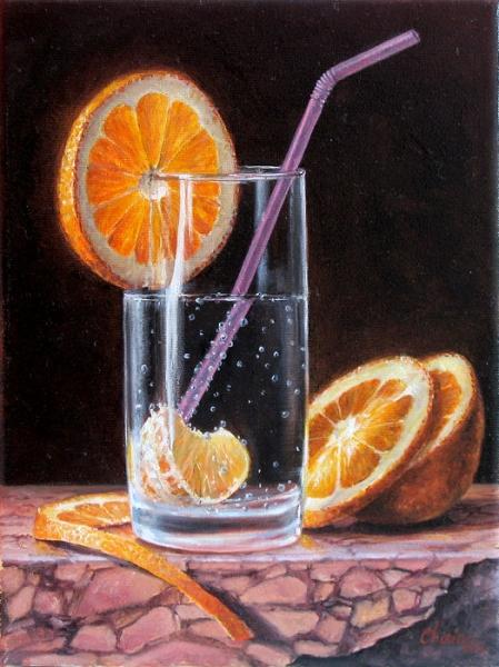 sliced orange and soda classical