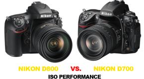 Confronto ISO Nikon D700 vs Nikon D800