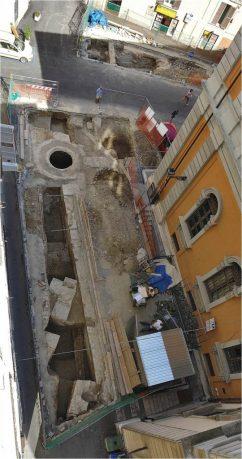 Recenti scavi in Largo Barbella, pre ascensore!