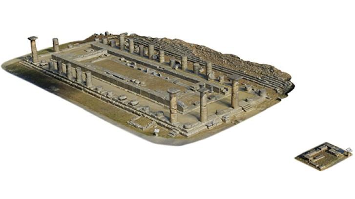 Foto di Sapirstein. Una panoramica del modello 3D prodotto per il tempio