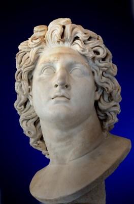 Alessandro Magno ritratto come il dio Elio, conservato ai Musei Capitolini