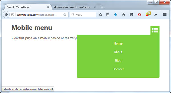 WordPress Mobile Menu