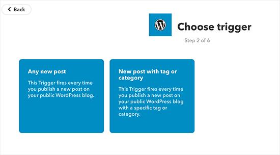 WordPress triggers