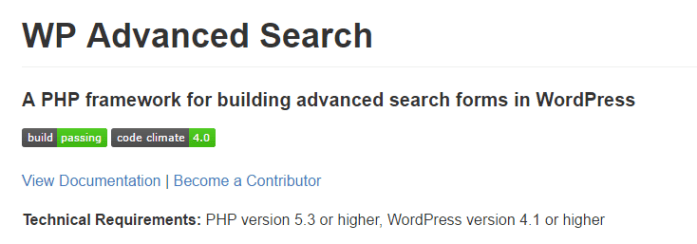 screenshot of advanced search page on Github