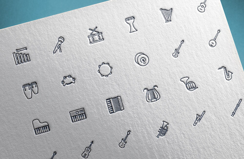 Freebie: Music Instrument icons (39 icons PNG, SVG)