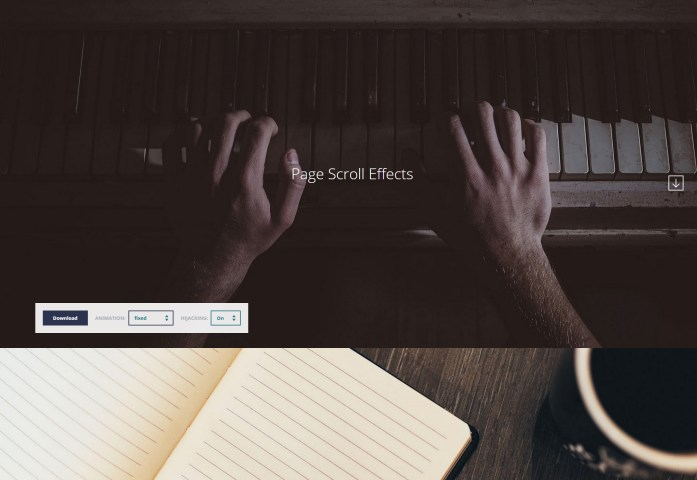 Multiple Page Scroll CSS Effects