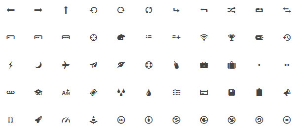 Entypo icon webfont