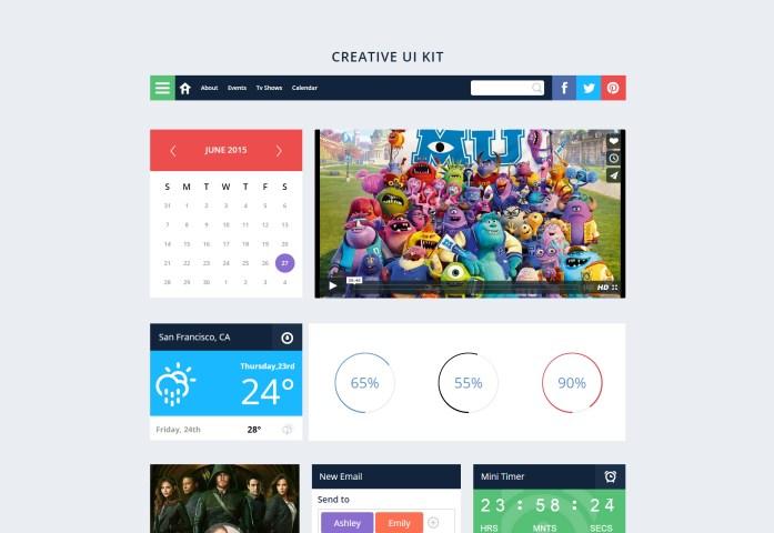 Creative UI Kit: a Flat Bootstrap Responsive Web Template