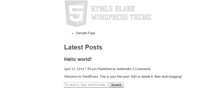 HTML5 Blank theme