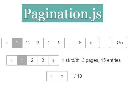 Pagination-js jQuery plugin