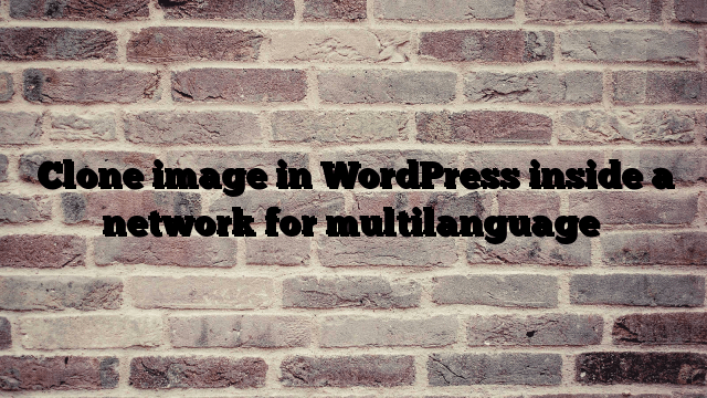 Clone image in WordPress inside a network for multilanguage