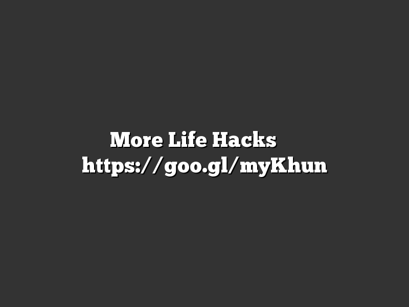 More Life Hacks ➡️ https://goo.gl/myKhun