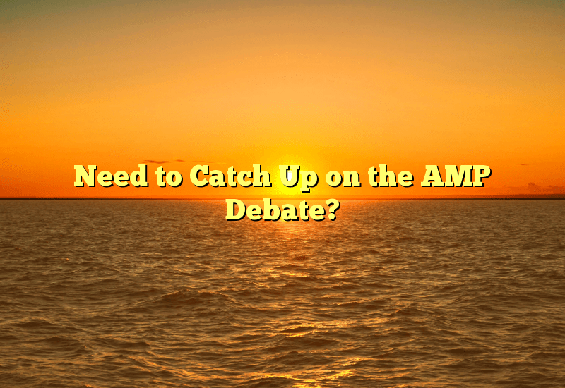 Need to Catch Up on the AMP Debate?