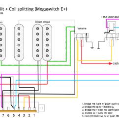 hsh autosplit coil splitting megaswitch e dimarzio colors [ 1193 x 843 Pixel ]