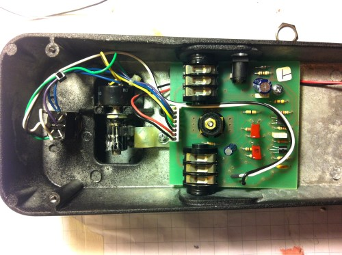 small resolution of here is the pcb and dpdt switch wired and installed