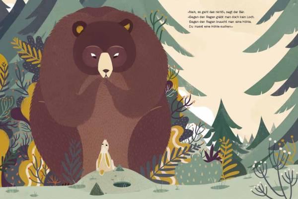 Ein Loch gegen den Regen, Text Daniel Fehr, Illustration Francesca Sanna