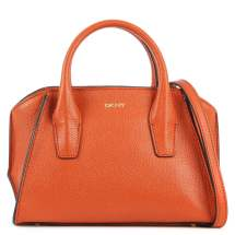 Dkny Chelsea Mini Orange Leather Satchel Bag