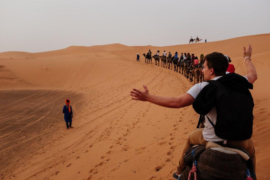 Morocco_Sahara_CamelTrain