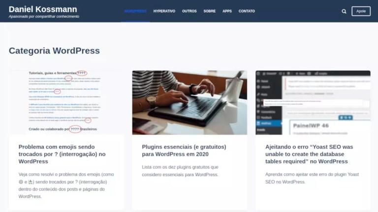 Código para identificar páginas do blog no WordPress
