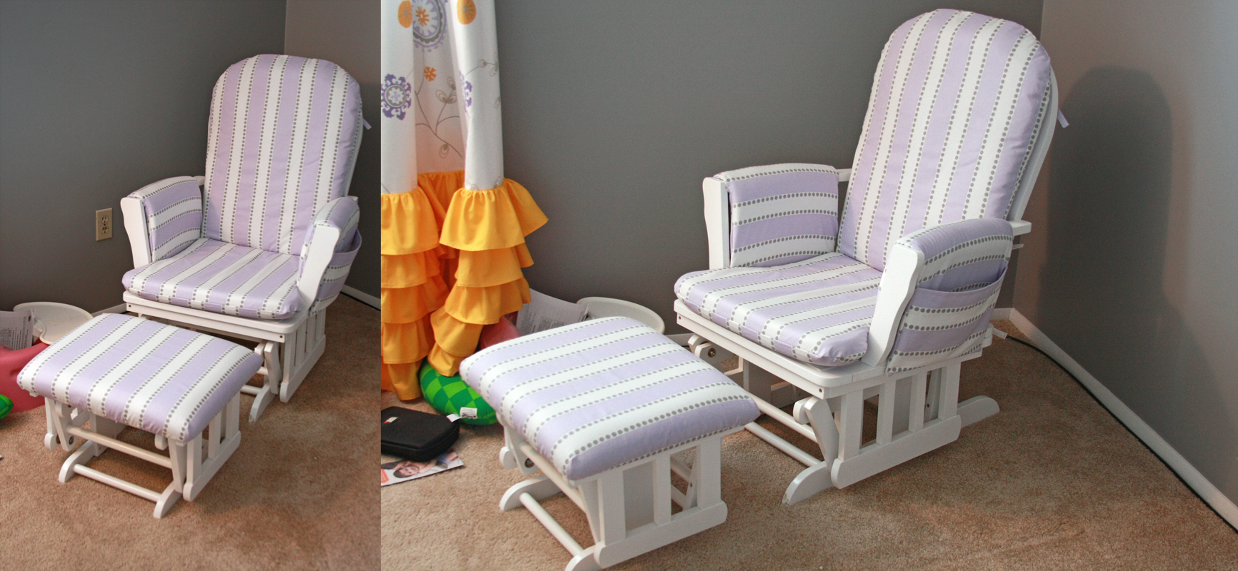 how to recover glider rocking chair cushions helinox accessories runs with spatulas crafty fridays a
