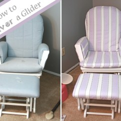 Slipcover For Glider Rocking Chair Leg Replacement Runs With Spatulas Crafty Fridays How To Recover A