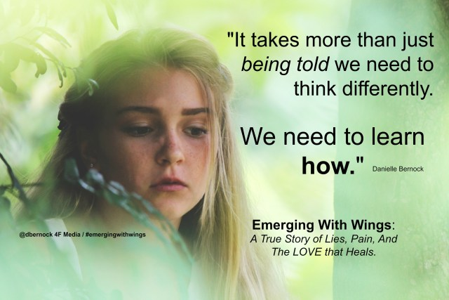 girl emerging with wings quote