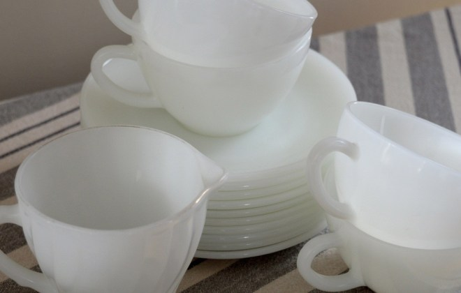 Vintage White Dishes.  All things garage sales, thrift stores and flea markets.  How to find a good deal.