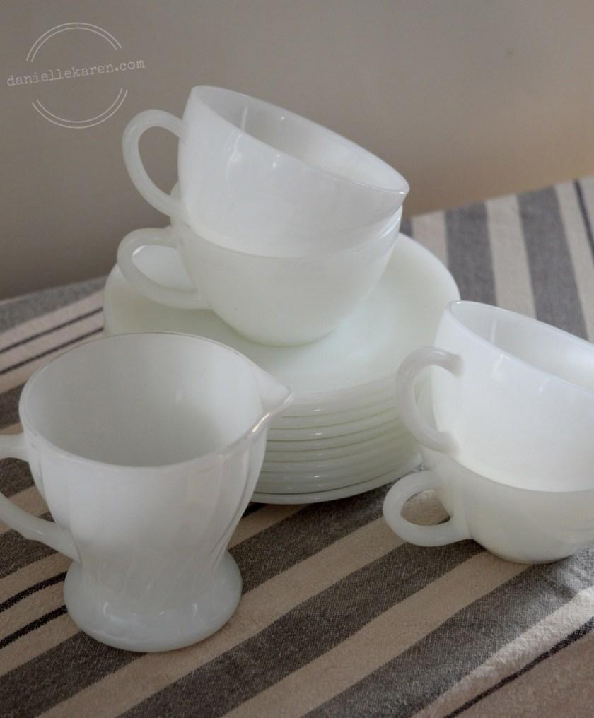 Vintage White Dishes
