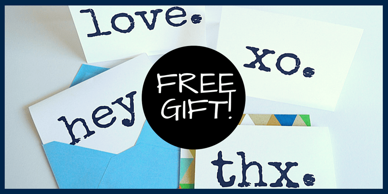 Free Gift!  Set of 4 Multipurpose Cards (blank inside) Free print to download.