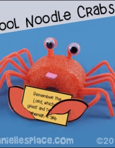 Crab holding  bible verse or note card vacation school craft also vbs crafts and activities rh daniellesplace