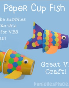 Paper cup fish craft for vbs also vacation bible school crafts and activities rh daniellesplace