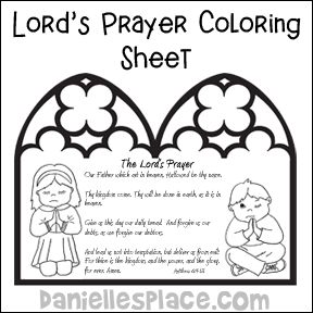 Catholic Lords Prayer Coloring Page Coloring Pages