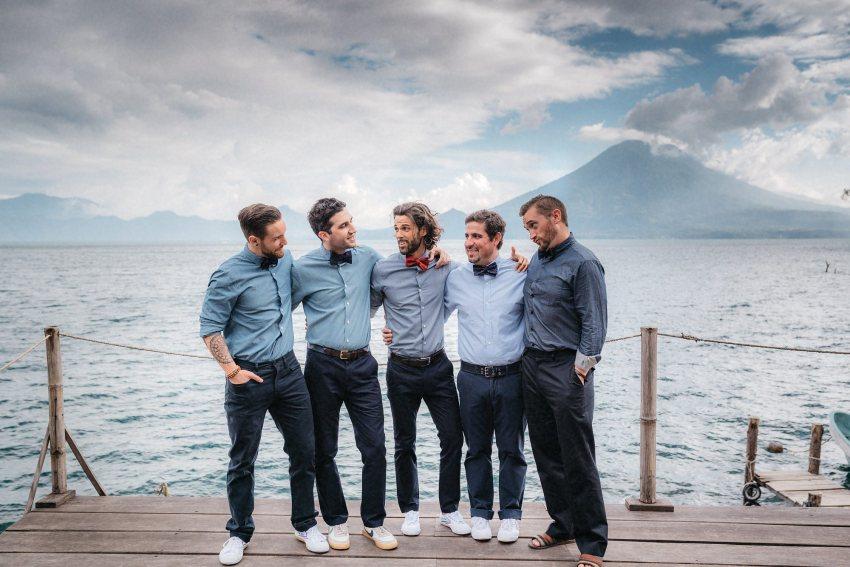 groomsmen lake atitlan guatemala