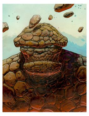 Moebius - The Thing - Illustration originale