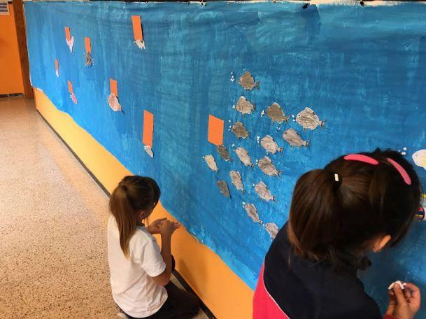 Realización del mural, CEIP María Jesús Ramírez.