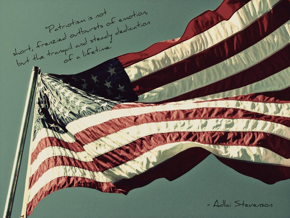 American Flag with Adlai Stevenson Quote