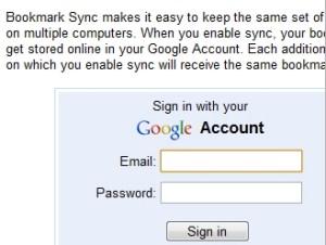 Google Chrome Bookmark Sync